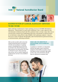 Accreditation of Clinical Audiology Services to ISO 15189 summary image